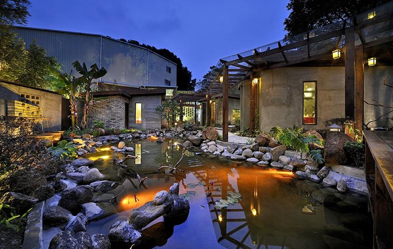 中国四合院茶馆装饰-茶馆庭院装饰设计-美雅时装饰