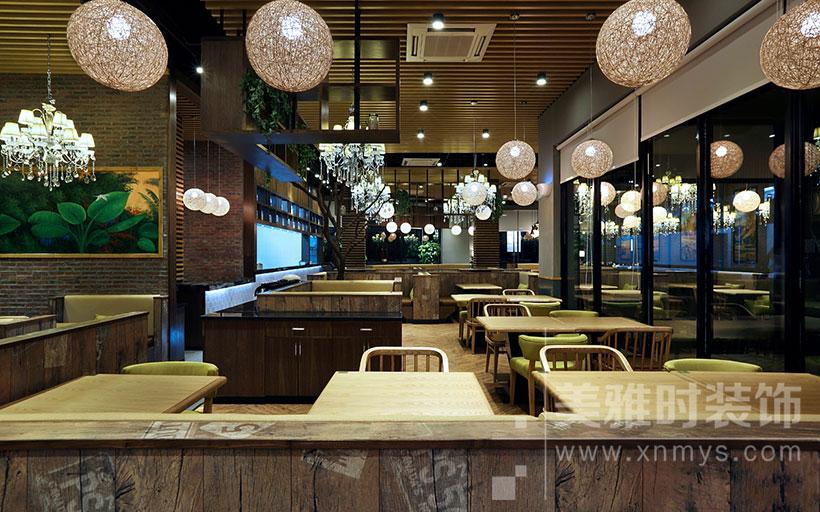 现代中式餐厅以这种方式装饰设计更具魅力——四川美雅时装饰