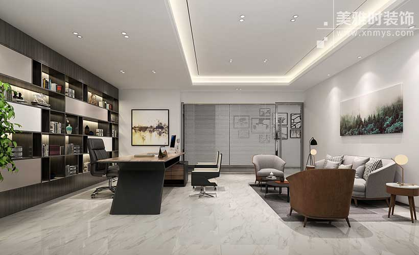 成都120平写字楼办公室装修的几种常见装修布局方法