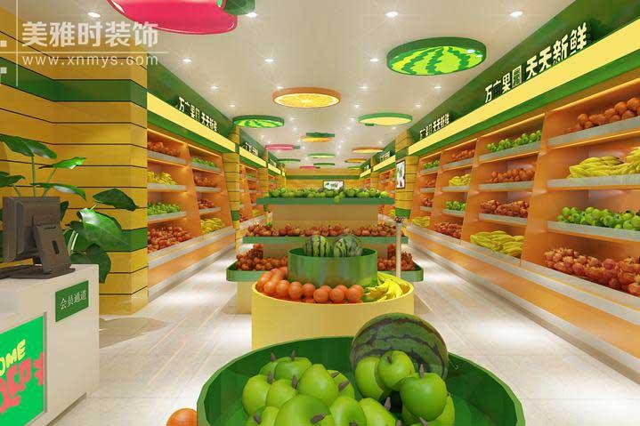 成都专业水果店装修设计公司告诉你水果店装修3点讲究