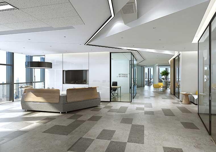 成都联合办公空间装修设计效果图
