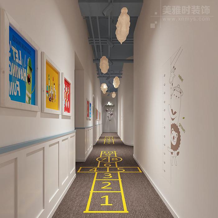幼儿园走廊空间装修设计需注意哪些细节?